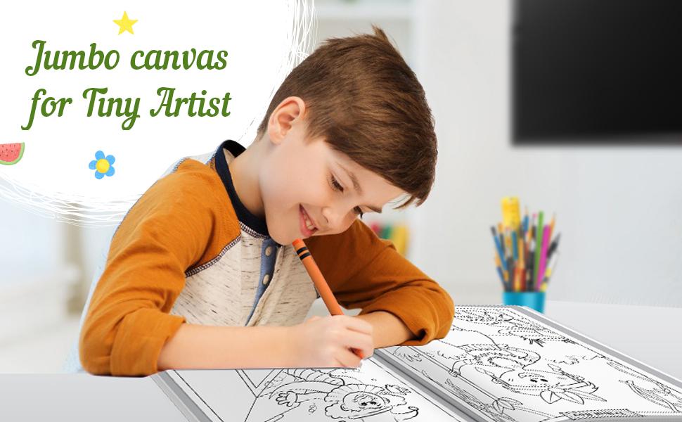 Jumbo Creative Colouring Book Canvas
