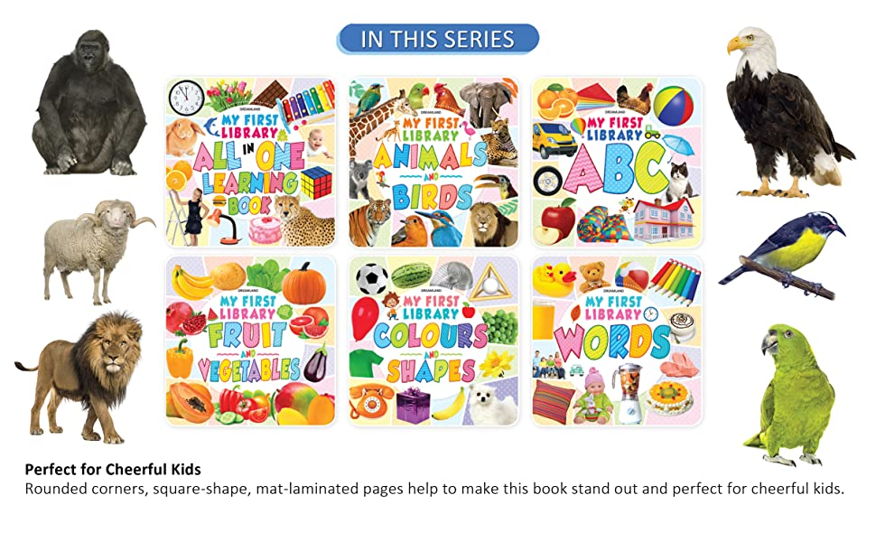 First library, early learning, abc, number, preschool, picture book, dreamland publications