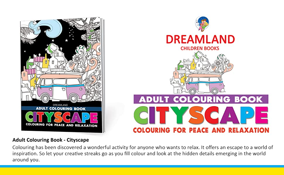 Adult colouring books, stress busters, activity books