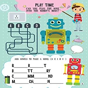 robotics, activity books