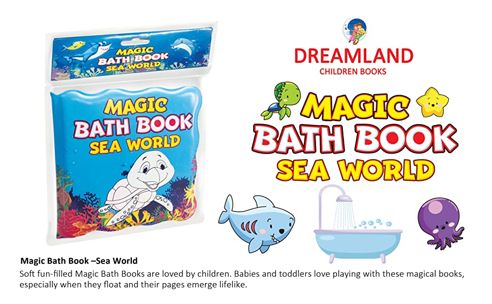 bath books for babies, Toddlers, magic books, Dreamland Publications