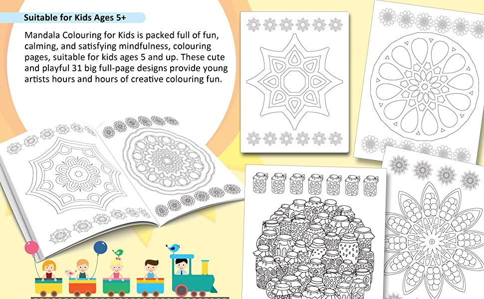 9350897911, Mandala Colouring for Kids- Book 1