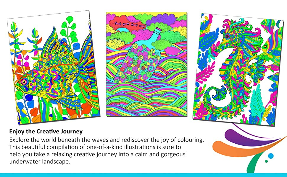 Adult colouring for peace and relaxation, Mandala, Fashion, motivation, oceans