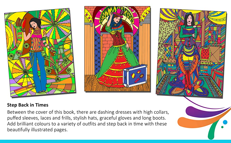 Adult colouring for peace and relaxation, Mandala, Fashion, motivation, victorian fashion