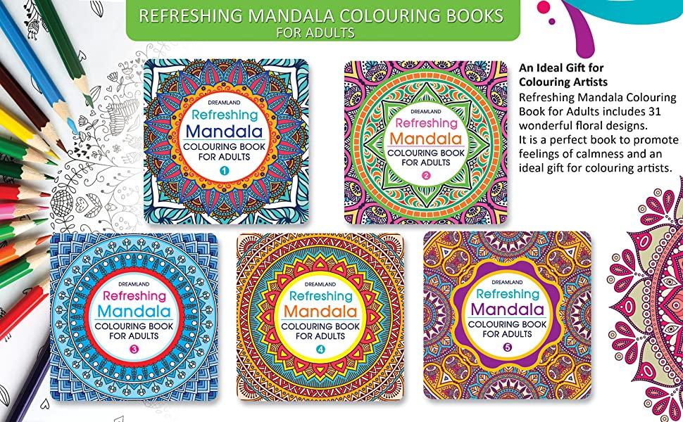 Refreshing Mandala - Colouring Book for Adults Book 4, 9350899183