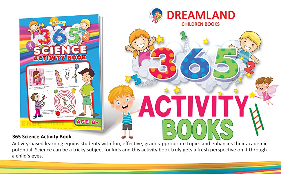 Activity Books, english, maths, science, general knowledge, lr, dreamland Publications