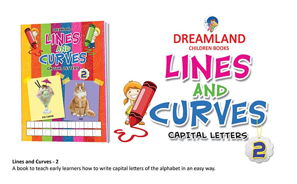 Lines and curves, pattern writing, writings books, pencil control