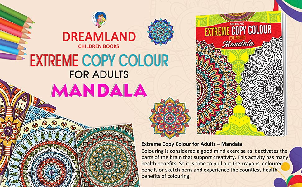 Extreme Copy Colour for Adults Mandala, 9350897903