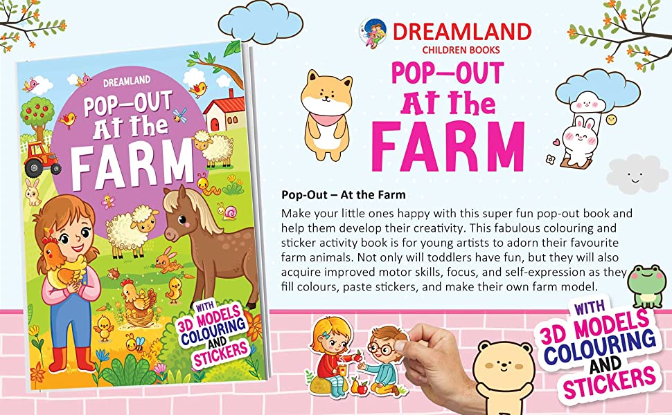 In the Space - Pop-Out Book with 3D Models Colouring and Stickers for Children